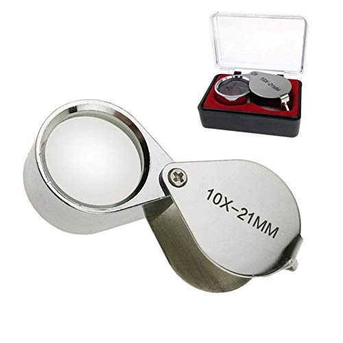 Aiernuo Loupes 10x Glass Jeweler Loupe Loop Eye Magnifier Magnifying...