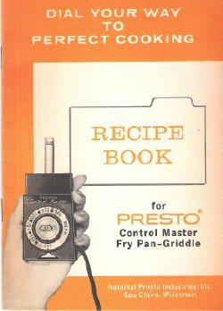 Presto Control Master Fry Pan Griddle Recipes Instructions