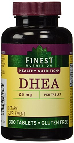 Finest Nutrition DHEA 25mg Tablets 300 ea, Packaging May Vary