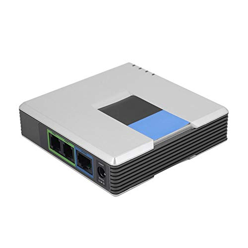 VOIP Gateway 2 Ports SIP V2 Protocol Internet Phone Adapter with Network...