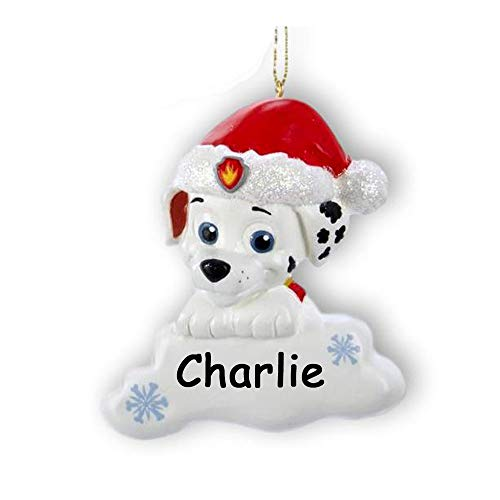 Personalized Paw Patrol Marshall The Fire Dog Christmas Ornament - Rescue...