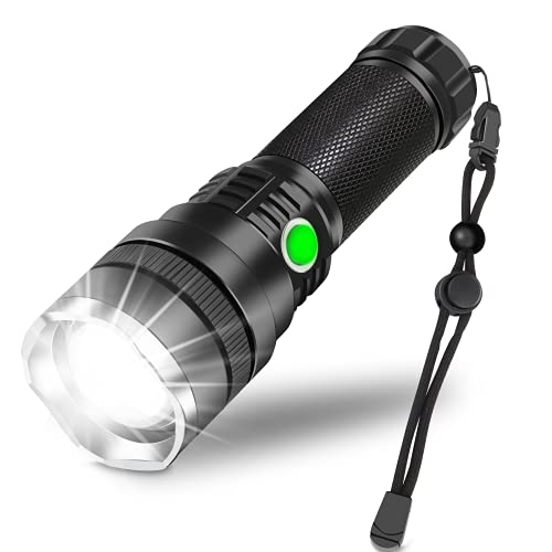 Rechargeable LED Flashlight,10000 Lumen Super Bright Tactical...