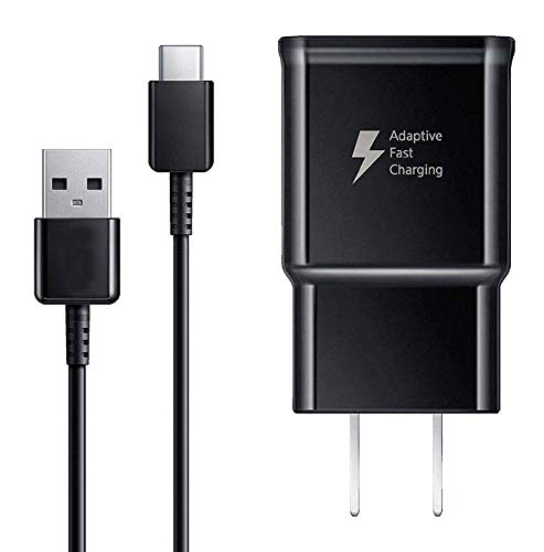 USB Type C Charger Cable and Adaptive Fast Charging Wall Charger Adapter...