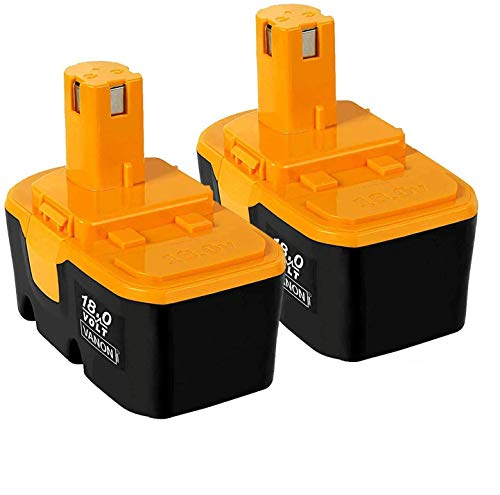 2Pack 18V 3600mAh Replace for Ryobi Battery P100 P101 ONE+ 130224028...