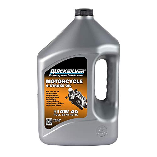 Quicksilver 8M0060085 10W-40 Full Synthetic 4-Stroke Motorcycle Oil – 1...