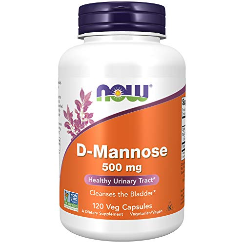 NOW Foods Supplements, D-Mannose 500 mg, Non-GMO Project Verified, Healthy...