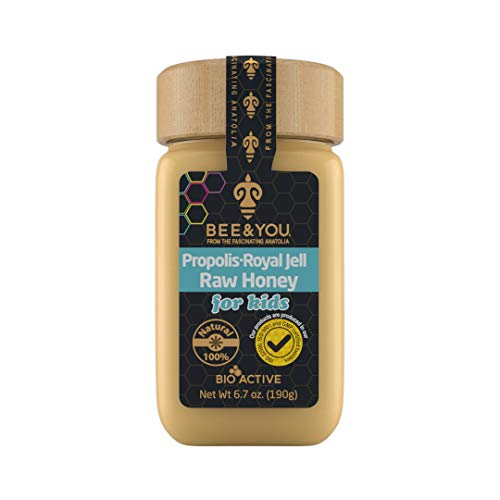 Bee and You Royal Jelly + Raw Honey + Propolis Mix for Kids – Pure –...