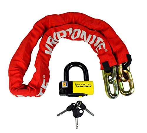 POWER SPORTS Kryptonite New York FAHGETTABOUDIT 1415 14mm 15 LBS Red Chain...