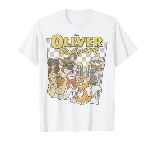 Disney Oliver & Company Checkerboard Poster T-Shirt