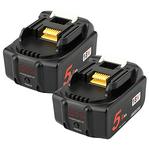2Pack AOYAN 18V 5.0Ah Replacement Battery with LED Display for Makita...