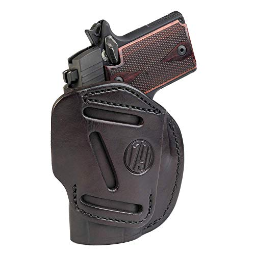 1791 GUNLEATHER 4-Way SIG P938 Holster - OWB and IWB CCW Holster - Right...
