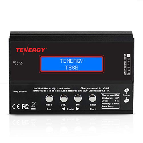 Tenergy TB6-B Balance Charger Discharger 1S-6S Digital Battery Pack Charger...