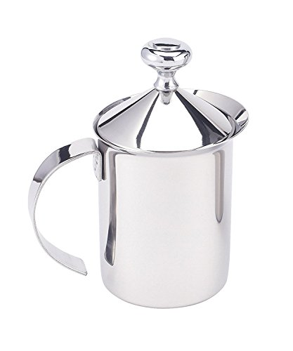 HIC Milk Creamer Frother Cappuccino Coffee Foam Pitcher with Handle and...
