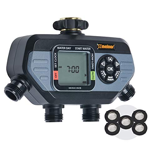 Melnor 65038-AMZ HydroLogic 4-Zone Digital Water Timer with 5 Stainless...