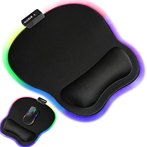 Qudodo RGB Ergonomic Mouse Pad with Wrist Support,11.2 x 9.3 in Mouse Pads...