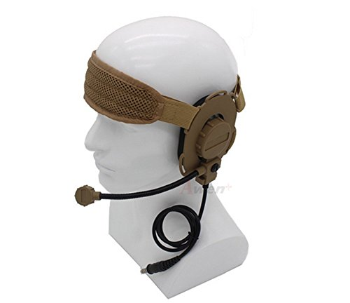 Bowman Evo III Military Headset with TCI Tactical PTT Z029,Tactical...