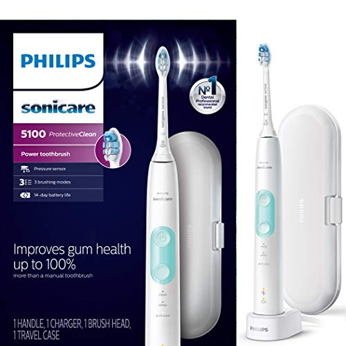 Philips Sonicare HX6857/11 ProtectiveClean 5100 Rechargeable Electric...