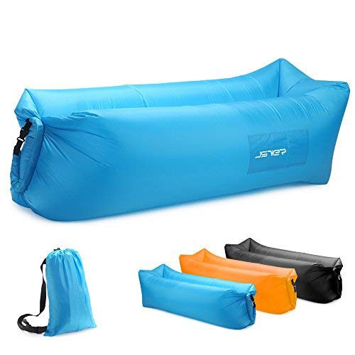 JSVER Inflatable Lounger Air Sofa with Portable Package for Travelling,...