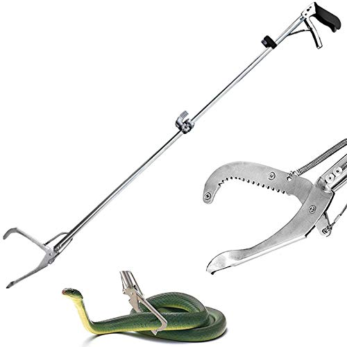 Ouronehome 60' Snake Tongs Professional Collapsible Reptile Catcher Stick...