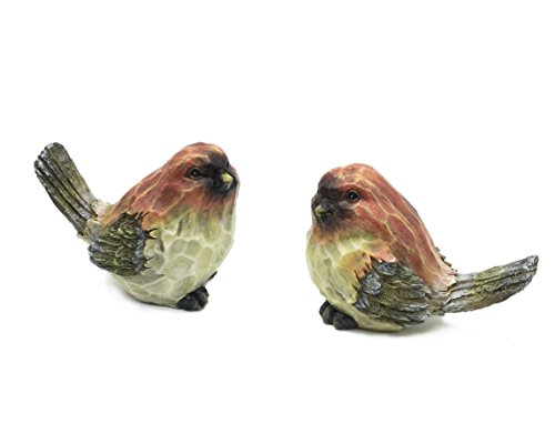 FICITI Bird Figurines with Wood Carved Sculpted Design - Love Birds -...