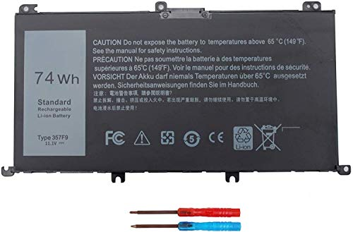 74WH 357F9 Laptop Battery for Dell Inspiron 15 7000 Gaming 15 7559 i7559...