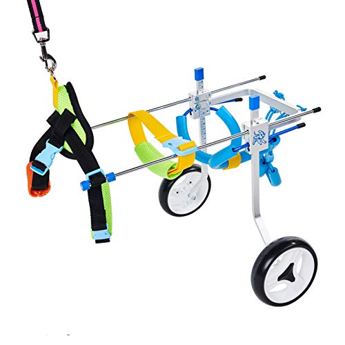 HiHydro 6 Types Cart Pet Wheelchair for Handicapped Hind Legs Small Dog...