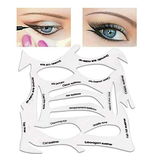 Quick Make-Up Stencils,eyeliner, eyebrows, eye shadow. A makeup tool with a...