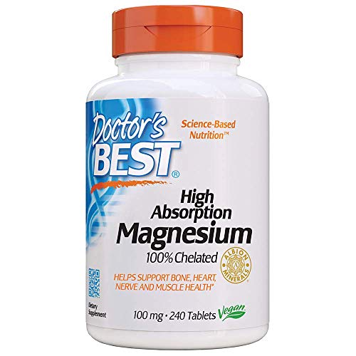 Doctor's Best High Absorption Magnesium Glycinate Lysinate, 100% Chelated,...