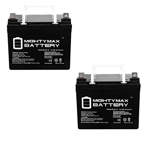 Mighty Max Battery 12V 35AH SLA Battery for Ego Helio Cycle Scooter - 2...