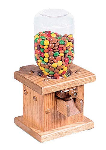 Wooden Candy Dispenser, Handmade Amish Antique Gumball Machine For...