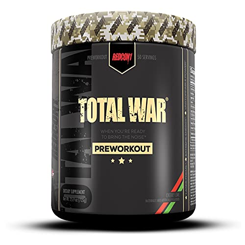 Redcon1 Total War - Pre Workout Powder, 50 Servings, Boost Energy, Increase...