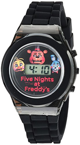Five Nights at Freddy's Boys' Quartz Watch with Rubber Strap, Black, 0.6...