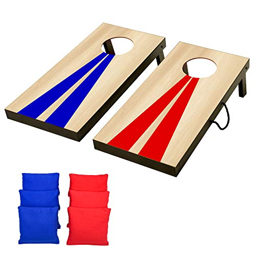 GoSports Portable Junior Size Cornhole Game Set with 6 Bean Bags - Great...