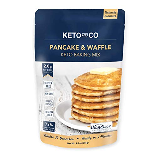 Keto Pancake & Waffle Mix by Keto and Co   Fluffy, Gluten Free, Low Carb...