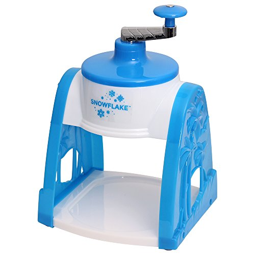 Time for Treats VKP Brands Snow Cone Maker, Small, white and blue