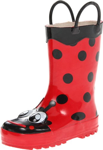 Western Chief Girl's Waterproof Printed Rain Boot with Easy Pull on...