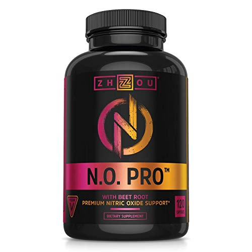 Zhou Nitric Oxide with L Arginine, Citrulline Malate, AAKG and Beet Root |...