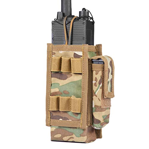 IDOGEAR Tactical Radio Pouch Molle Radio Holder for Walkie Talkies PRC 148...