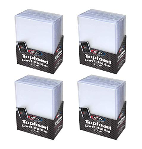 BCW Topload Card Holder for Standard Trading Cards ,3' x 4' ,Up to 20 pts,...