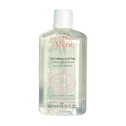 Eau Thermale Avene Oil-Free Gel Cleanser, Daily Face Wash for Normal to...