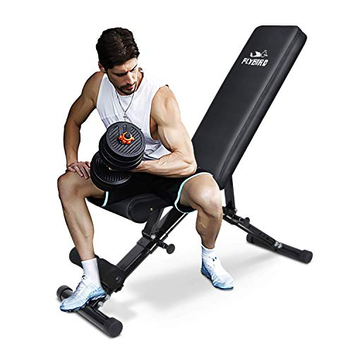 FLYBIRD Weight Bench, Adjustable Strength Training Bench for Full Body...