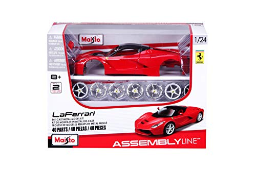 Maisto 1:24 Scale Assembly Line LaFerrari Die-Cast Vehicle - Red