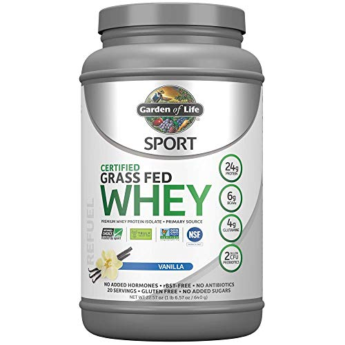 Garden of Life Sport Certified Grass Fed Clean Whey Protein Isolate,...