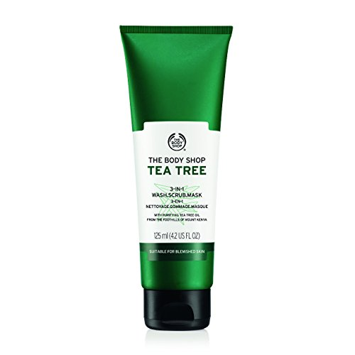 The Body Shop Tea Tree 3-in-1 Wash.Scrub.Mask, Made with Tea Tree Oil, 4.2...