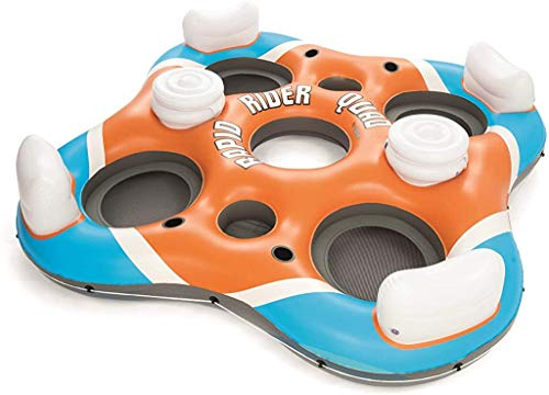 Bestway CoolerZ Rapid Rider Quad Inflatable Raft   Pool Float Includes 4...