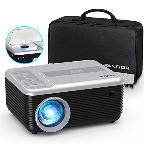 Mini Bluetooth Projector Built in DVD Player, Portable DVD Projector 1080P...