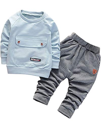 Little Boys 2 Pieces Clothes Set Infant Baby boys Outfits Sweatshirt and...