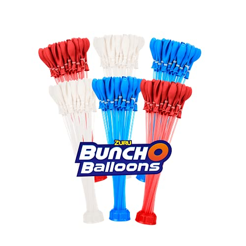 Bunch O Balloons Rapid-Filling Red, White and Blue Water Balloons 6 Pack...