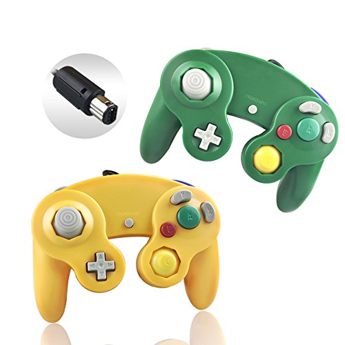 Reiso 2 Packs NGC Controllers Classic Wired Controller for Wii Gamecube...