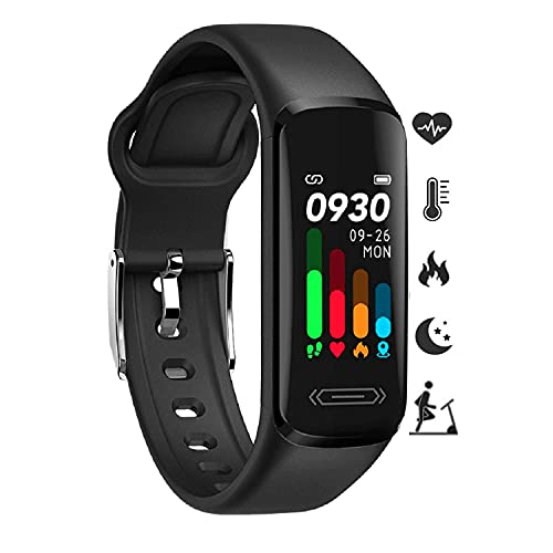 Fitness Tracker HR, Activity Fitness Trackers with Body Temperature Heart...